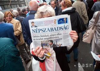V Bruseli protestovali proti zrušeniu maďarského denníka Népszabadság