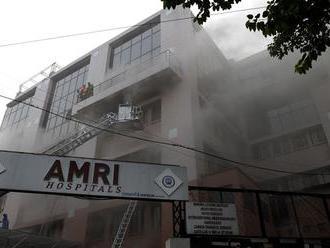 Po požiari v súkromnej nemocnici v Indií zadržali už najmenej štyri osoby