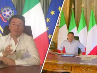 Taliansky premiér Renzi sa dištancuje od symbolu EÚ, žlté hviezdičky na modrom pozadí nahradila trik