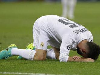 Real Madrid bude hrať bez Carvajala v úvodnom osemfinále Ligy majstrov