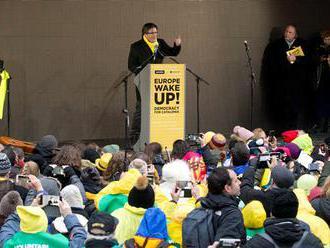 "Katalánski separatisti v Bruseli skandovali ""Puidgemont je náš prezident"""