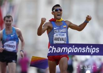 Atletika: V chôdzi na 20 km zlato pre Arévala z Kolumbie