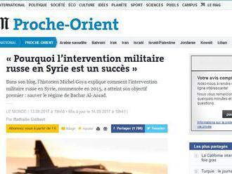 Francúzsky historik vysvetľuje vojenské úspechy Ruska v Sýrii