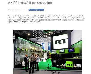 """FBI začalo vyšetrovanie """"ruských špiónov"""" – televíznej stanice Russia Today a spravodajskej agentúry"""