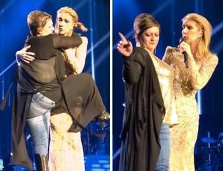 Opitá fanúšička vtrhla na pódium a obťažovala Céline Dion. Jej reakcia vás očarí