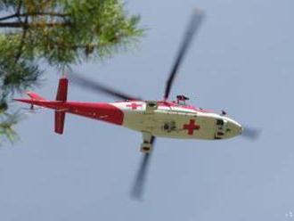 Turista utrpel úraz hlavy, prevážali ho leteckí záchranári