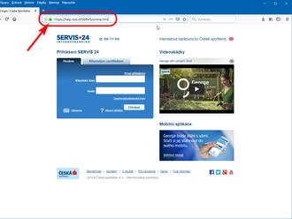 Phishingový útok na Českou spořitelnu včetně   bezpečného   webu