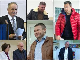 FOTOREPORTÁŽ Vo voľbách odovzdali svoje hlasy premiér, exprezidenti i Kiska: Odkazy voličom