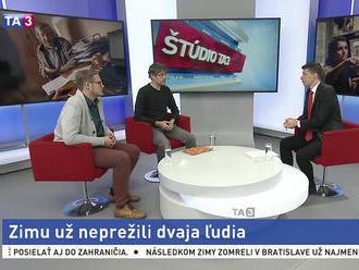 ŠTÚDIO TA3: S. Kára a J. Kákoš o pomoci ľudom bez domova