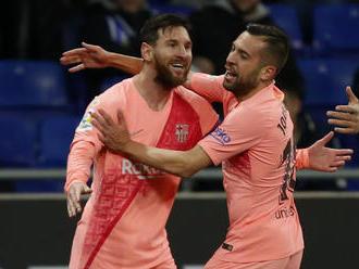 Barcelona deklasovala Espanyol, Messi predviedol parádne priame kopy