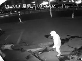 V Šanghaji lupič knockoutoval parťáka tehlou