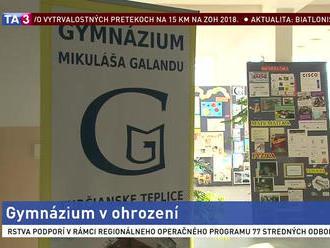 Turčianske Teplice spísali petíciu, ich gymnáziu hrozí zánik