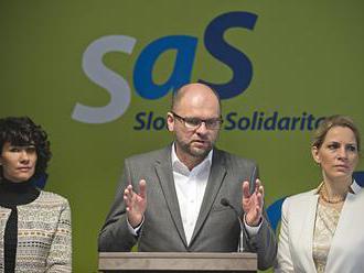 SaS pôjde do volieb samostatne, stranám navrhuje dohodu o povolebnej spolupráci