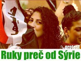 V stredu sa bude konať pochod za mier a proti vojne v Sýrii