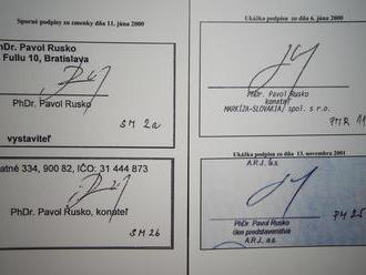 Kočnerove zmenky: Ruskov podpis na zmenkách sa podľa Markízy nepodobá na jeho podpis z roku 2000