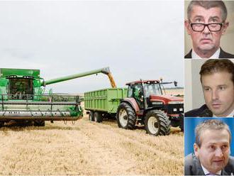 Milióny na agrodotáciách berú aj firmy spojené s Babišom, J&T aj bývalým šéfom pozemkového fond