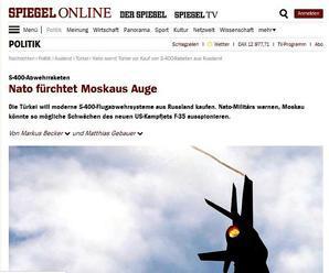 Der Spiegel: Ruské dodávky protilietadlových systémov S-400 do Turecka sú obrovským problémom pre am