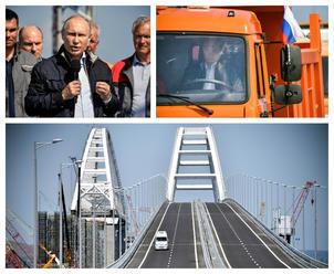Snívali o ňom už za cára, my sme to dokázali, povedal Putin a odšoféroval prvú jazdu cez most na Kry