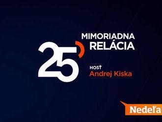 Mimoriadna relácia 25 s Michalom Kovačičom: Exkluzívnym hosťom bude Andrej Kiska