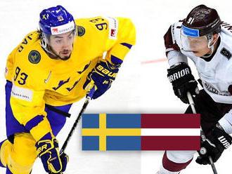 ONLINE: Štvrťfinálový zápas MS v hokeji 2018 Švédsko vs. Lotyšsko