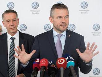Pellegrini: Vláda SR pripraví pre Volkswagen Slovakia špeciálne opatrenia