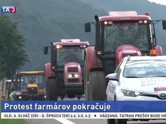 Protest farmárov pokračuje, večer by mali doraziť do Bratislavy
