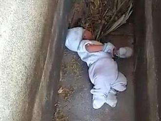 Matka nechala bábätko na cintoríne. Pozrite si video z jeho záchrany