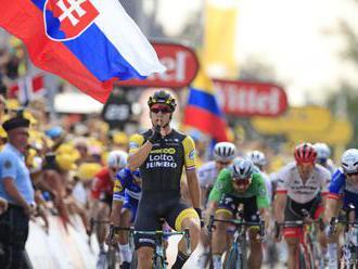 FOTO: UDRŽAL SI ZELENÝ DRES: Sagan skončil v siedmej etape tretí