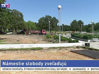 Obnovujú Námestie Slobody, pribudnú ihriská aj zeleň