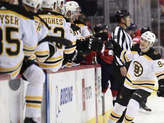 Lauko se rve v přípravě o NHL, skóroval i ve druhém zápase za Boston