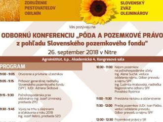 Odborná konferencia Pôda a pozemkové právo   8211  program