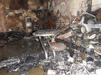V prístavbe rodinného domu zhorel otec   a syn