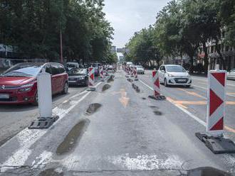 Na Mlynských nivách v Bratislave znížia počet jazdných pruhov