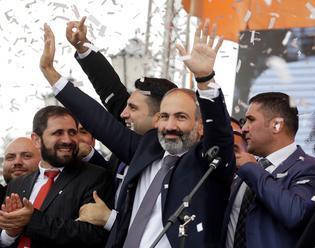 Predsedom vlády Arménska sa stal Nikol Pašinjan