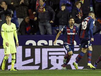 Barcelona prehrala v prvom osemfinále Kráľovského pohára v Levante 1:2