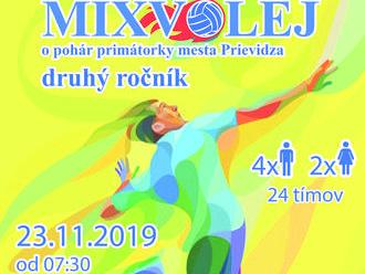MIXVOLEJ 2019 - mixvolejbalový turnaj o pohár primátorky mesta Prievidza
