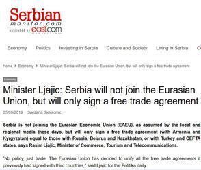 Európska únia vyvíja tlak na Srbsko a žiada ho, aby nepodpísalo s Euroázijskou ekonomickou úniou doh