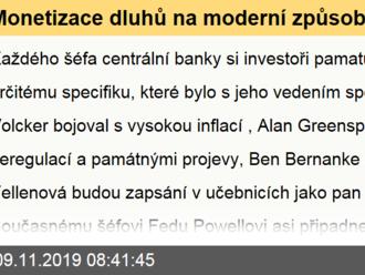 Monetizace dluhů na moderní způsob