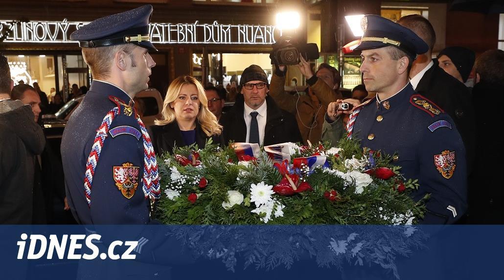 Čaputová předběhla české politiky. Položila věnec na Národní třídě