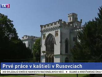 Práce na kaštieli v Rusovciach začali, z areálu spravia anglický park