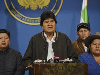 Bolívijský prezident Morales oznámil svoju rezignáciu