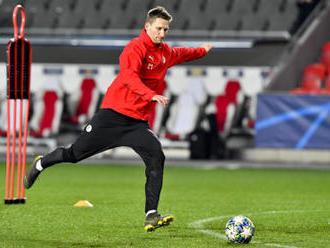 Fotbalisté Slavie nastoupí v Dortmundu s útočníkem Škodou