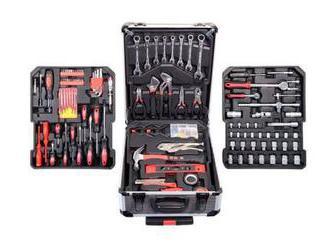 Súprava náradia Flinke: 408 kusov nástrojov a masívny kufrík na kolieskach. Kvalitný nemecký výrobok