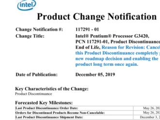 Intel vrací do prodeje 6 let staré 22nm Pentium G3420