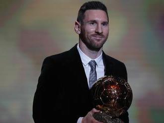 Messi získal rekordnú šiestu Zlatú loptu a nechal za sebou Ronalda