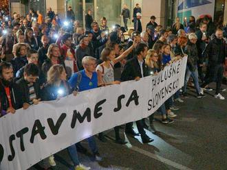 Anonymný útok na protesty Za slušné Slovensko nevyšiel: Prokurátor ich odmietol