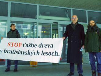 Na ministerstve odovzdali petíciu, chcú zabrániť výrubu lesov v Bratislave