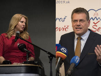 V druhom kole volieb si zmerajú sily Čaputová a Šefčovič