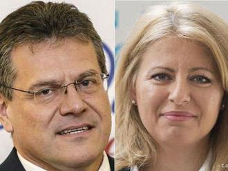 Volebná komisia potvrdila postup Čaputovej a Šefčoviča do 2. kola