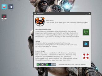 """Puppy Linux 8.0 """"BionicPup"""""""